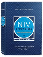 NIV Study Bible Large Print (Red Letter Edition) Fully Revised Edition (2020) Hardback