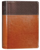 NIV Study Bible Large Print Brown Indexed (Red Letter Edition) Fully Revised Edition (2020) Premium Imitation Leather