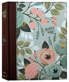 NIV Beautiful Word Bible With Peel/Stick Bible Tabs Multi-Color Floral (Red Letter Edition) Fabric Over Hardback