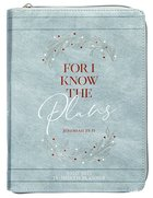 2021 18-Month Weekly Diary/Planner: For I Know the Plans (Faux Ziparound) Imitation Leather