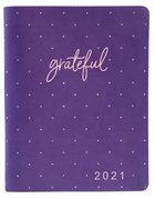 2021 18-Month Diary/Planner: Grateful (Zippered) Imitation Leather