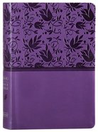 NKJV Large Print Personal Size Reference Bible Purple Premium Imitation Leather