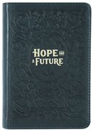 Journal: Genuine Leather Handy-Sized Journal, Hope and a Future Genuine Leather
