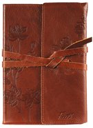Journal: Genuine Leather With Wrap Closure, Faith Genuine Leather
