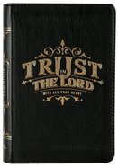 Journal: Genuine Leather Handy-Sized Journal, Trust in the Lord Genuine Leather