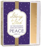 Christmas Boxed Cards: Glory to God in the Highest (Luke 2:14 Kjv) Stationery