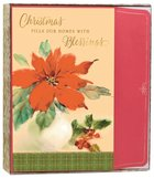 Christmas Boxed Cards: Christmas Poinsettia (Luke 2:10 Kjv) Stationery