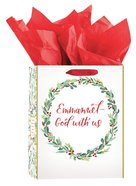 Christmas Gift Bag Medium: Christmas Wreath (Includes 2 Sheets of Tissue Paper) (Matt 1:23, Kjv) Stationery