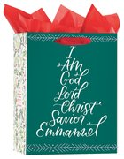 Christmas Gift Bag Large: I Am (Includes 2 Sheets of Tissue Paper) (Psalm 34:3, Kjv) Stationery