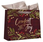Christmas Large Gift Bag: Comfort and Joy (Includes One Sheet Of Tissue Paper, Satin Ribbon Handles With Gift Tag) Stationery