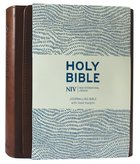 NIV Journalling Bible With Magnetic Clasp Brown Anglicised Text Imitation Leather