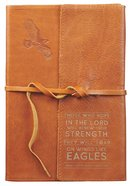 Journal: Genuine Leather With Wrap Closure, Wings Like Eagles Genuine Leather