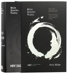 NIV Bible Speaks Today Study Bible Black With Slipcase (Bible Speaks Today Series) Bonded Leather