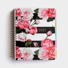 2021 18-Month Agenda Diary/Planner: Floral Spiral