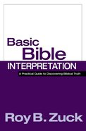 Basic Bible Interpretation Hardback
