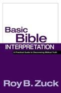 Basic Bible Interpretation Hardback