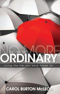 No More Ordinary eBook