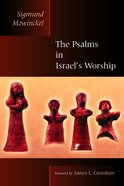 The Psalms in Israel's Worship (Biblical Resource Series) Paperback