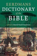 Eerdmans Dictionary of the Bible Paperback
