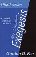 New Testament Exegesis (3rd Edition) Paperback