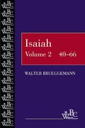 Isaiah 40-66 (Westminster Bible Companion Series) Paperback