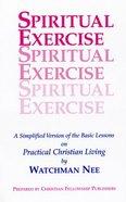 Spiritual Exercise Paperback