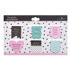Bookmark Magnetic: Pray Every Day, Die-Cut, Pink/Blue/Black (Set Of 6) Stationery