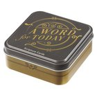 Scripture Cards in Tin: A Word For Today, 50 Double-Sided Cards Box