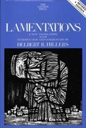 Lamentations (2nd Edition) (Anchor Yale Bible Commentaries Series) Hardback