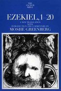 Ezekiel 1-20 (Anchor Yale Bible Commentaries Series) Paperback