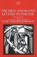 The First and Second Letters to Timothy (Anchor Yale Bible Commentaries Series) Hardback