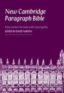KJV New Cambridge Paragraph Blue Personal Size Hardback