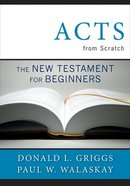 Acts From Scratch Paperback