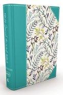 NKJV Journal the Word Bible Blue Floral (Red Letter Edition) Hardback