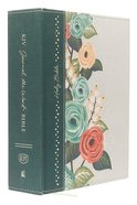 KJV Journal the Word Bible Large Print Green Floral (Red Letter Edition) Hardback