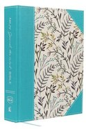 NKJV Journal the Word Bible Large Print Blue Floral (Red Letter Edition) Hardback