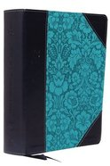 NKJV Journal the Word Reference Bible Blue (Red Letter Edition) Premium Imitation Leather