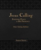 Jesus Calling Note-Taking Edition: Experiencing Peace in His Presence Imitation Leather