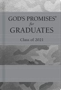 God's Promises For Graduates: Class of 2021 - Silver Camouflage NIV Hardback