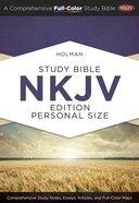 NKJV Holman Study Indexed Bible Personal Size Hardback