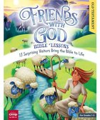 Friends With God Bible Lessons: 13 Surprising Vistors Bring the Bible to Life (Reproducible, Grades 1-5) (Old Testament With Cd) Paperback