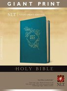 NLT Holy Bible Giant Print Teal Blue (Red Letter Edition) Imitation Leather