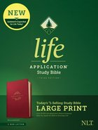 NLT Life Application Study Bible 3rd Edition Large Print Berry (Red Letter Edition) Imitation Leather
