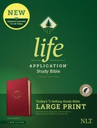 NLT Life Application Study Bible 3rd Edition Large Print Berry Indexed (Red Letter Edition) Imitation Leather