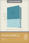Ntv Santa Biblia Edicion De Referencia Ultrafina Letra Grande Azul Con Indice (Red Letter Edition) Imitation Leather