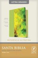 Ntv Santa Biblia Edicion De Referencia Ultrafina Letra Grande Verde Con Indice (Red Letter Edition) Imitation Leather
