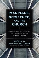 Marriage, Scripture, and the Church eBook