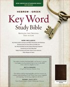 NASB Hebrew-Greek Key Word Study Bible Genuine Goatskin Brown Genuine Leather