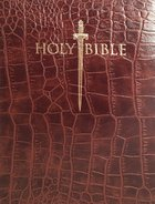 Kjver Thinline Large Print Bible Walnut Alligator Imitation Leather