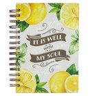 Journal: Well With My Soul, Lemon Print Spiral